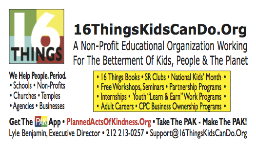 16ThingsKidsCanDo.Org A 501(c)3 Non-Profit Educational Organization